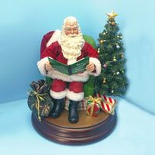 """10"""" Red and White Battery Operated Christmas Santa Claus Tabletop Figurine - IMAGE 1"""