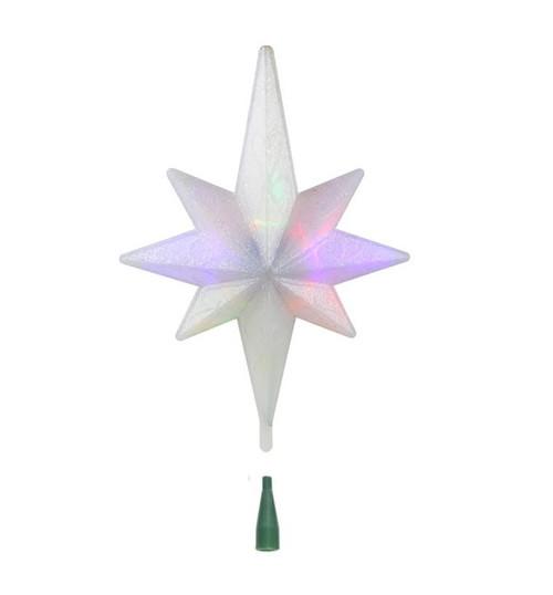 "14.5"" Winter Frost B/O Multi-Color LED Bethlehem Star Christmas Tree Topper - IMAGE 1"