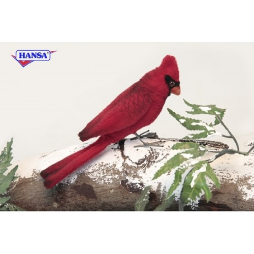 """Set of 6 Red Handcrafted Soft Plush Cardinal Stuffed Animals 3.5"""" - IMAGE 1"""