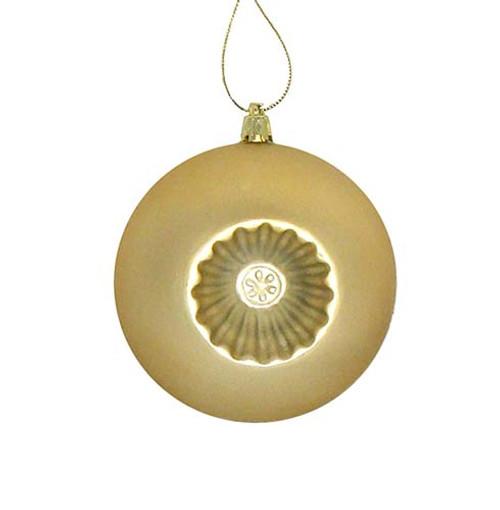 "6ct Vegas Gold Shatterproof Matte Christmas Ball Ornaments 4"" (100mm) - IMAGE 1"