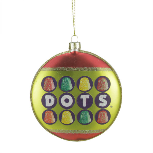 """4"""" Red and Green Gumdrop Candies Christmas Disc Ornament - IMAGE 1"""