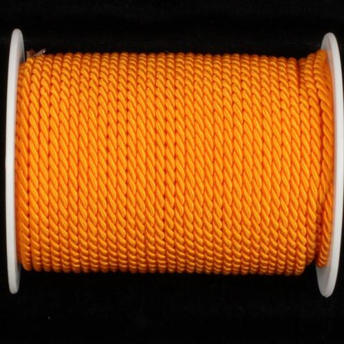 "Orange Braided Cording Wired Craft Ribbon 0.25"" x 27 Yards - IMAGE 1"