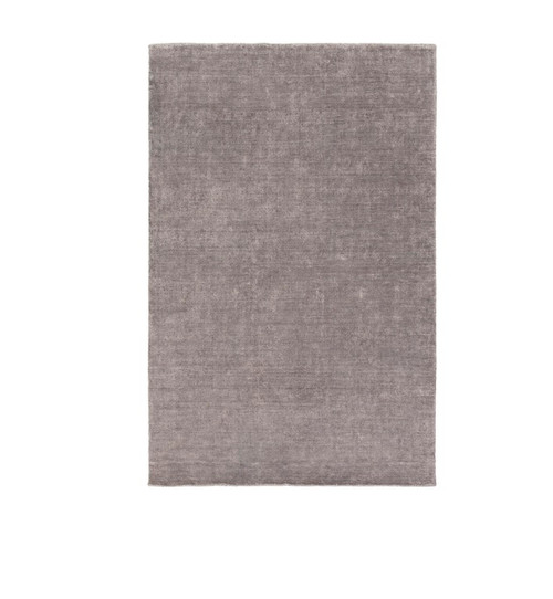 5' x 7.5' Charcoal Black Abstract Hand Tufted Area Throw Rug - IMAGE 1