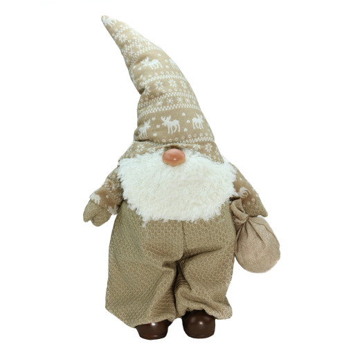 """27.5"""" Beige and White Jolly James Gnome Christmas Tabletop - IMAGE 1"""