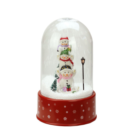"11.75"" Lighted Musical Snowmen Christmas Snow Globe Glittering Snow Dome - IMAGE 1"