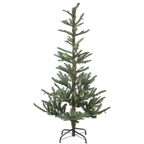 6.5' Pre-Lit Slim Noble Fir Artificial Christmas Tree - Warm Clear LED Lights - IMAGE 1