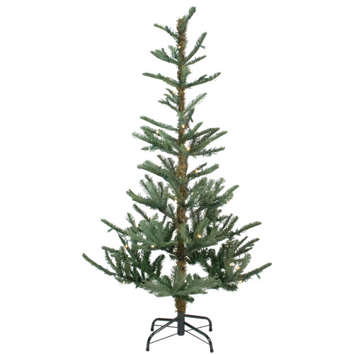 4.5' Pre-Lit Layered Noble Fir Artificial Christmas Tree - Warm Clear LED Lights - IMAGE 1