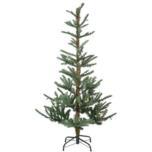 9' Pre-Lit Green Slim Fir Artificial Christmas Tree - Warm Clear LED Lights - IMAGE 1