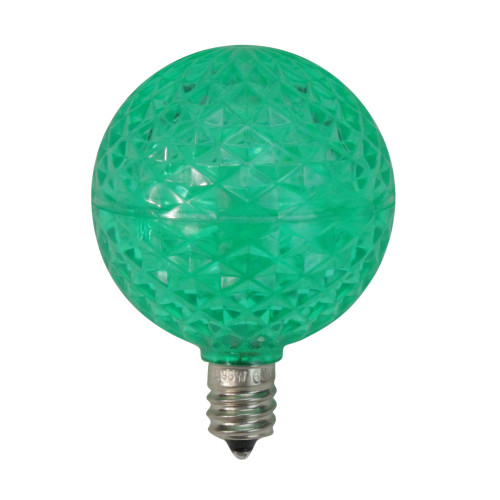 Club Pack of 25 Green LED G50 Christmas Replacement Bulbs - E12 Base - IMAGE 1