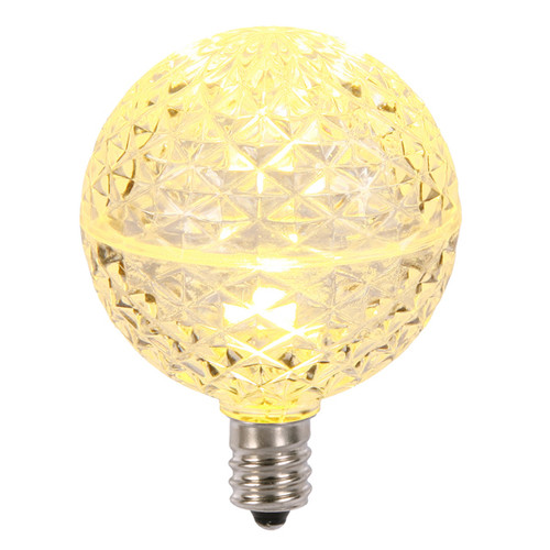Club Pack of 25 LED G50 Warm Clear Replacement Christmas Light Bulbs - E12 Base - IMAGE 1