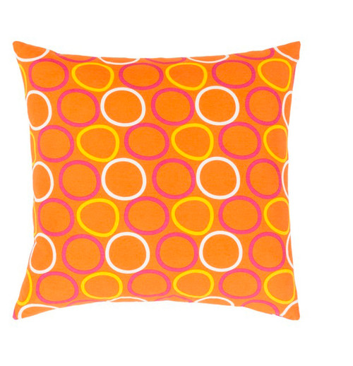 """18"""" Orange and Yellow Woven Square Throw Pillow - IMAGE 1"""