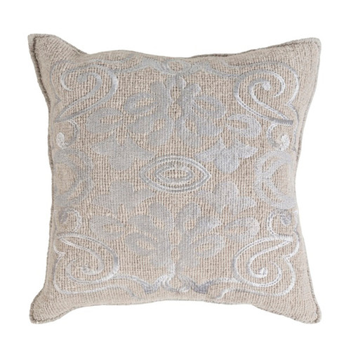 """20"""" Oyster Gray Woven Decorative Throw Pillow - Down Filler - IMAGE 1"""
