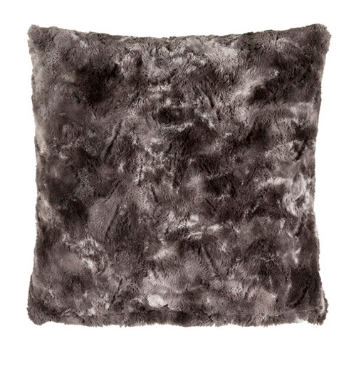 "20"" Black and Gray Woven Square Throw Pillow - Poly Filled - IMAGE 1"