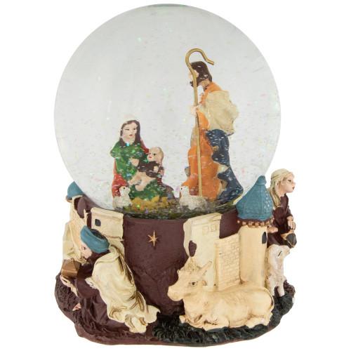 "5.5"" Nativity Scene Religious Musical Christmas Snow Globe - IMAGE 1"