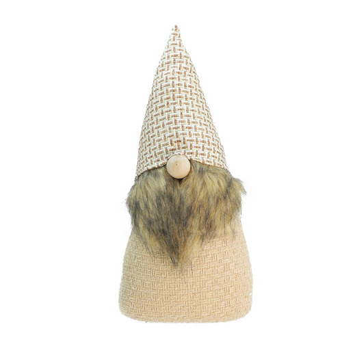 """16"""" Beige and Brown Natural Christmas Gnome Tabletop Figure - IMAGE 1"""