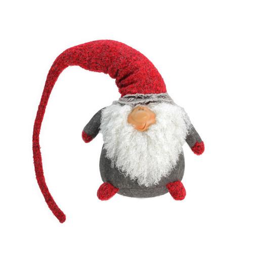 "27.5"" Red and Gray Nordic Plush Santa Christmas Gnome Tabletop Figurine - IMAGE 1"