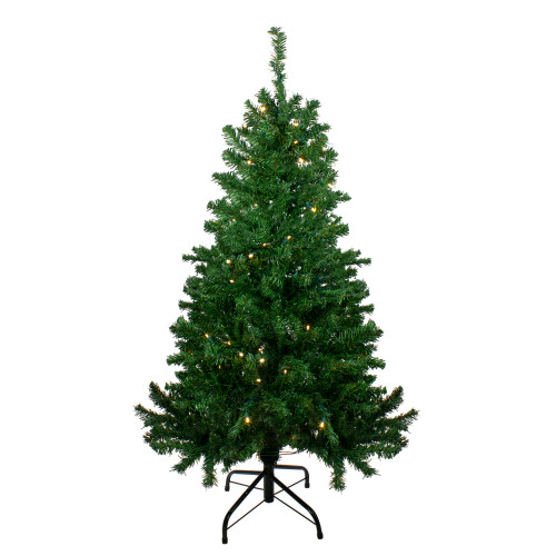 4' Pre-Lit Mixed Classic Pine Medium Artificial Christmas Tree - Warm Clear LED Lights - IMAGE 1