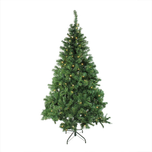 6' Pre-Lit Mixed Classic Pine Medium Artificial Christmas Tree - Warm Clear LED Lights - IMAGE 1