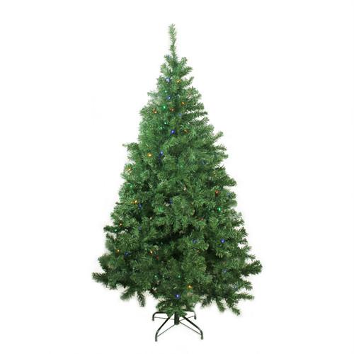 6 ft Pre-Lit LED Medium Mixed Classic Pine Artificial Christmas Tree - Multi Lights - IMAGE 1