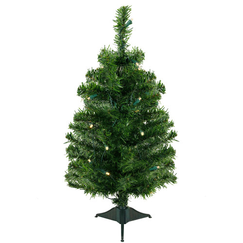 2' Pre-Lit Medium Mixed Classic Pine Artificial Christmas Tree - Warm Clear LED Lights - IMAGE 1