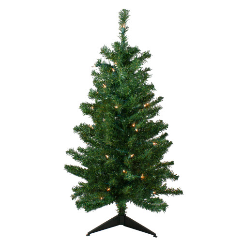 3' Pre-Lit Medium Mixed Classic Pine Artificial Christmas Tree - Clear Lights - IMAGE 1