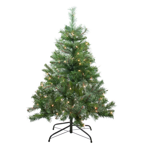 4' Pre-Lit Mixed Cashmere Pine Medium Artificial Christmas Tree - Clear Lights - IMAGE 1
