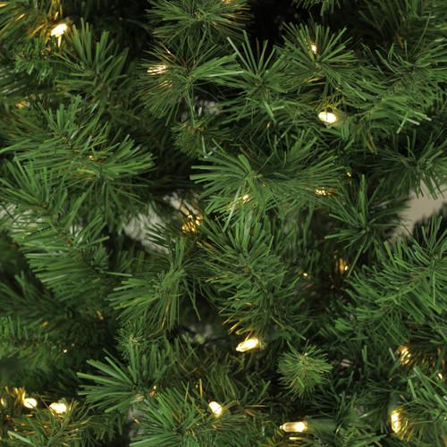 7' Pre-Lit Slim Glacier Pine Artificial Christmas Tree ...
