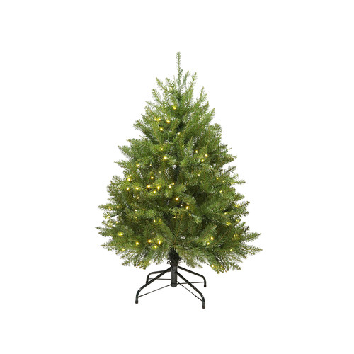 4' Pre-Lit Full Northern Pine Artificial Christmas Tree - Warm Clear LED Lights - IMAGE 1