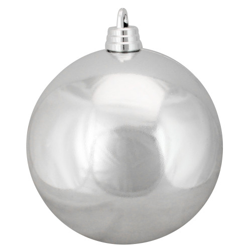 "Silver Splendor Shatterproof Shiny Commercial Christmas Ball Ornament 12"" (300mm) - IMAGE 1"
