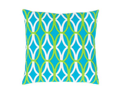 """22"""" Sky Blue and White Throw Pillow - Down Filler - IMAGE 1"""