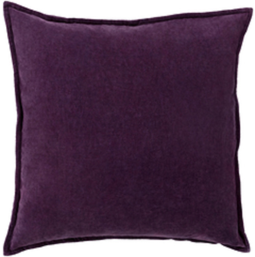 "20"" Calma Semplicita Eggplant Purple Decorative Square Throw Pillow - IMAGE 1"