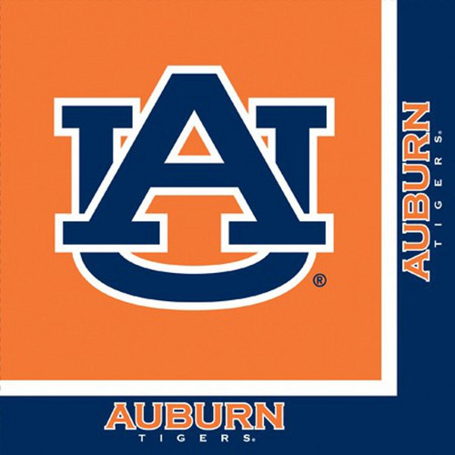 Club Pack Tailgating Party Lunch Napkins of 240 NCAA Auburn Tigers 2-Ply - IMAGE 1