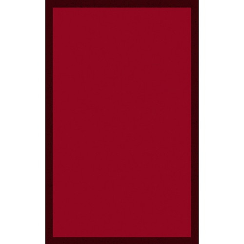 3.25' x 5.25' Cherry Red and Black Hand Tufted Rectangular Area Throw Rug - IMAGE 1