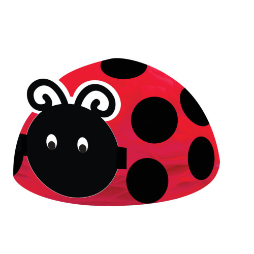 """Pack of 6 Red and Black Ladybug Fancy Honeycomb Centerpieces Decors 12"""" - IMAGE 1"""