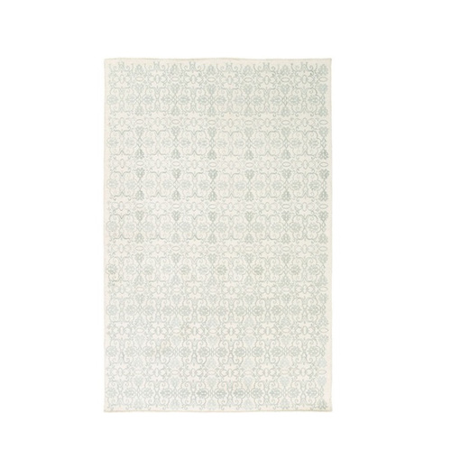 6' x 9' Perpetual Leitmotif Gray and White Hand Woven Area Throw Rug - IMAGE 1
