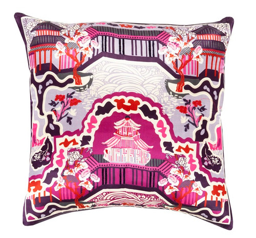 """22"""" Mulberry Pink and Purple Decorative Square Throw Pillow - IMAGE 1"""