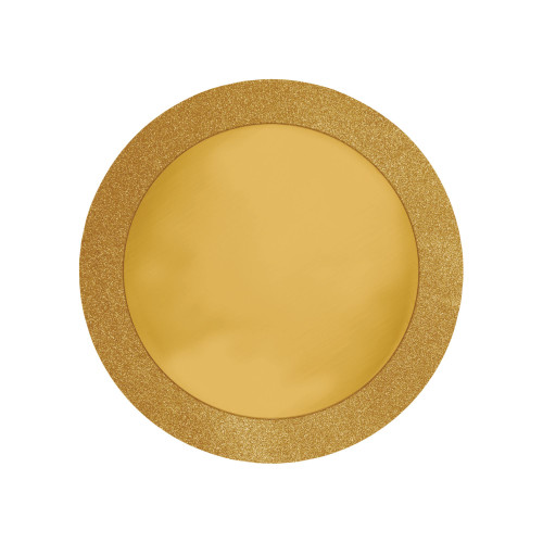 """Club Pack of 96 Gold Disposable Round Placemats 14"""" - IMAGE 1"""