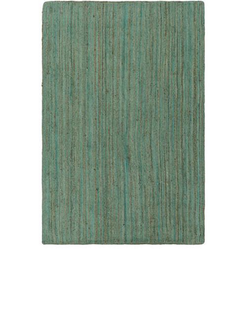 5' x 7.5' Sage Green and Brown Hand Woven Reversible Rectangular Area Throw Rug - IMAGE 1