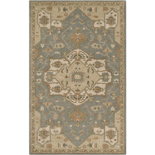 9' x 12' Traditional Shadow Blue and Brown Hand Tufted Wool Area Throw Rug - IMAGE 1