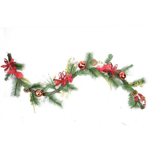 "6' x 10"" Pinecone Artificial Christmas Garland - Unlit - IMAGE 1"