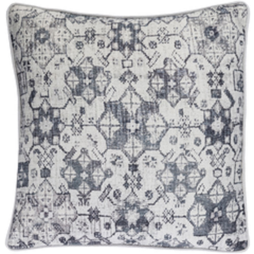 """20"""" Black and White Contemporary Throw Pillow - IMAGE 1"""