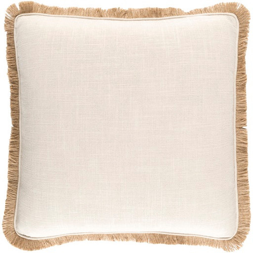 "20"" Natural Vanilla Wheat and Desert Sand Brown Decorative Throw Pillow - Down Filler - IMAGE 1"
