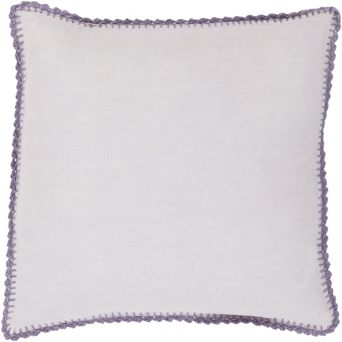"""18"""" Periwinkle and Natural Lavender Purple Woven Linen Decorative Throw Pillow- Down Filler - IMAGE 1"""