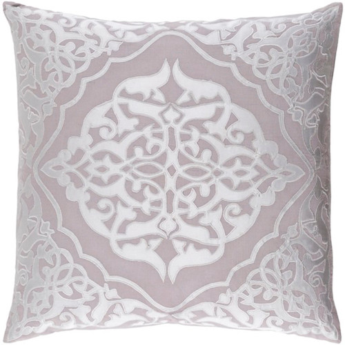 """18"""" Dove Gray and Silver Decorative Square Throw Pillow - Down Filler - IMAGE 1"""