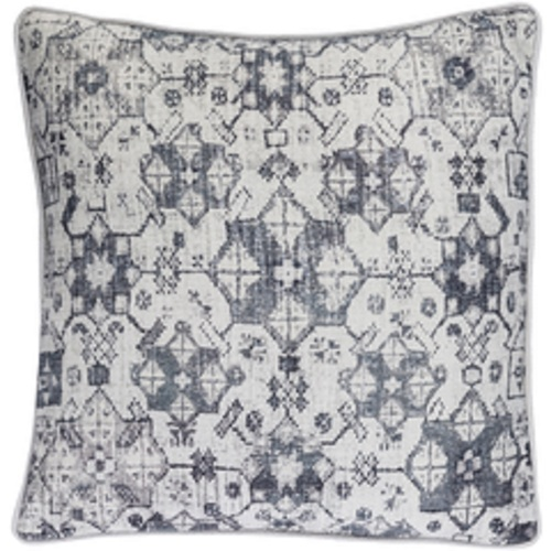 """18"""" Kettle Black and White Woven Decorative Throw Pillow – Down Filler - IMAGE 1"""