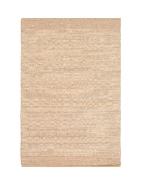 8' x 10' Summer Breeze Khaki Brown and Cafe Au Lait Hand Woven Jute Area Throw Rug - IMAGE 1