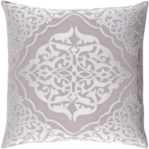 "20"" Dove Gray and Silver Decorative Square Throw Pillow - Down Filler - IMAGE 1"