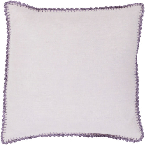 """18"""" Periwinkle and Natural Lavender Purple Woven Linen Decorative Throw Pillow - IMAGE 1"""