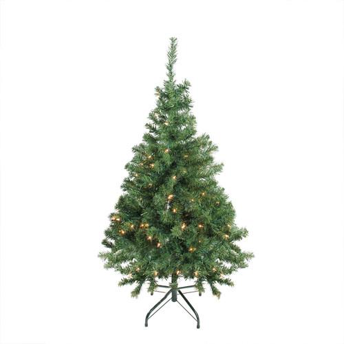 4' Pre-Lit Niagara Pine Medium Artificial Christmas Tree - Clear Lights - IMAGE 1