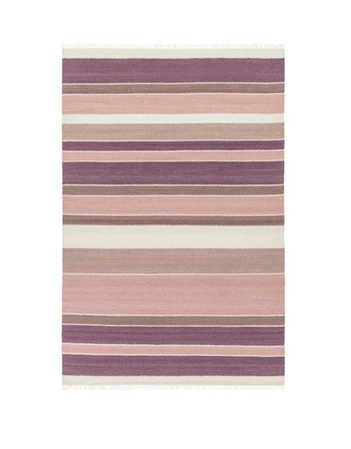 9' x 13' Spring Time Purple and Pink Wool Area Throw Rug - IMAGE 1